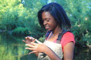 Jabria helped test water quality during her EPA internship.